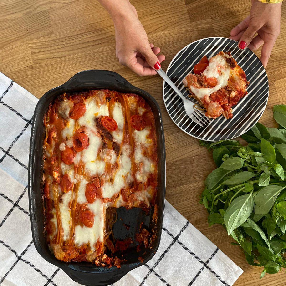 ספגטי אפוי