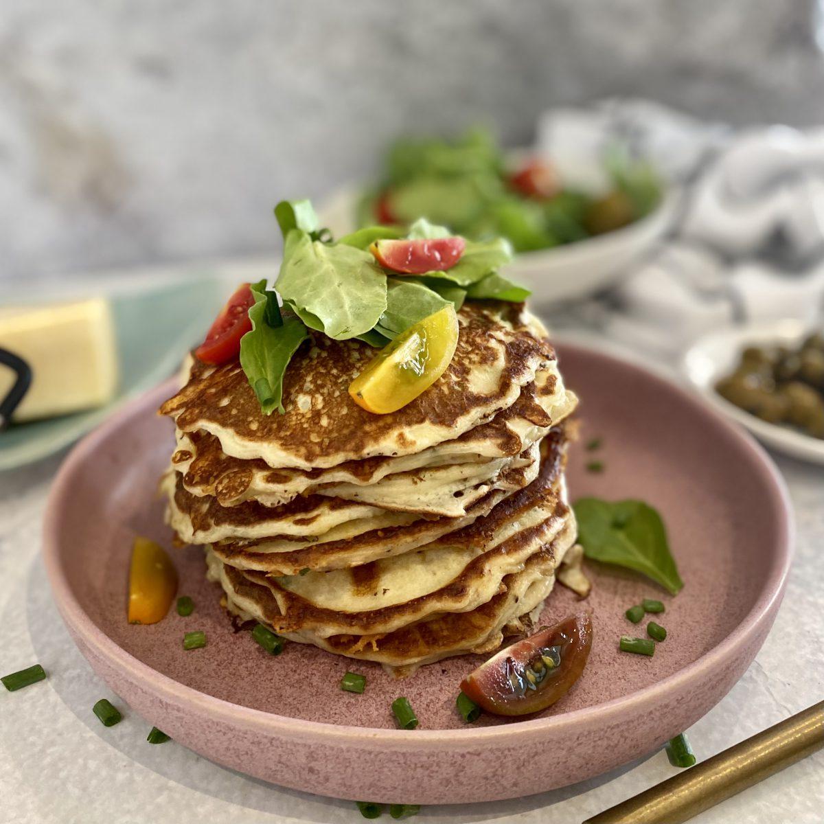 פנקייק מלוח עם גבינות ועירית